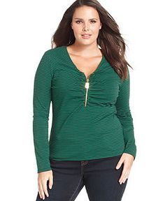 I love green! Michael Kors Plus Size Dresses, Jeans, Tops & Clothing - Macy's #fashion #mystyle