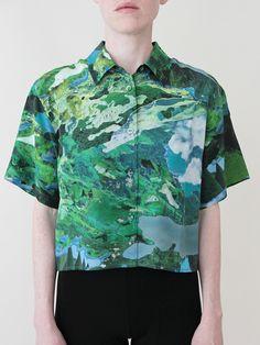 RICHARDS Cropped Summer Shirt - Fantasy « Pour Porter
