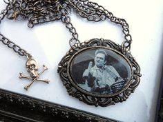 Johnny Cash Necklace by LEBEAUTYEXORCIST on Etsy, $15.00