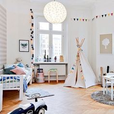 Playful & fun with pops of colour #kidsroom