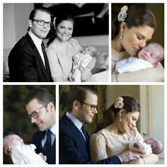 royalsandquotes:  Official Photos of Royal Babies - #1 Crown Princess Victoria of Sweden and Prince Daniel with their newborn daughter, Princess Estelle, born February 23, 2012