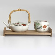 Vintage Deadstock Japanese Hand-Painted Poppies Tea Set, $24, now featured on Fab.