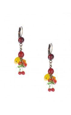 Fruit Salad Lever-Back Earrings from PUG