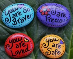 SOUL STONES  Love Safe Brave Precious by HealingExpressions, $9.99 (Transitional Objects)