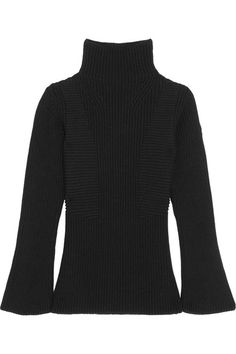 MONCLER Maglione Ribbed Wool Turtleneck Sweater. #moncler #cloth #knitwear