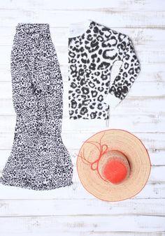Spódnica maxi w panterkę