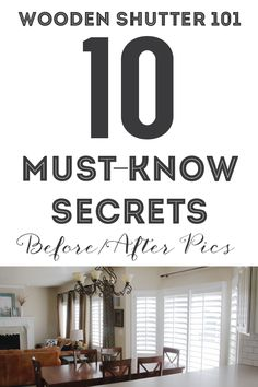 Wooden Shutters 101: 10 Must-know Secrets (before/after