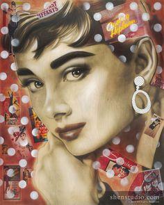 31fa6db004b61 68 Best ARTWORK - Audrey Hepburn images   Audrey hepburn art, Audrey ...