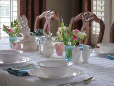 tablescapes   love spring and Easter! And spring tablescapes are among my ...