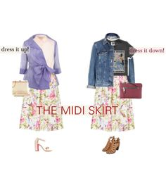 """""""the midi skirt"""" by freddarling on Polyvore"""