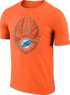 b2aca81cbd8e Nike Men s Miami Dolphins Icon Performance Orange T-Shirt