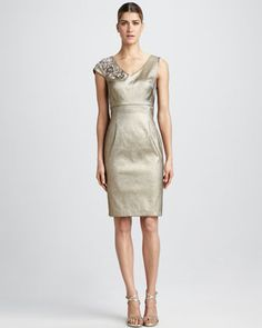 Asymmetric Cocktail Dress by Kay Unger New York at Neiman Marcus.