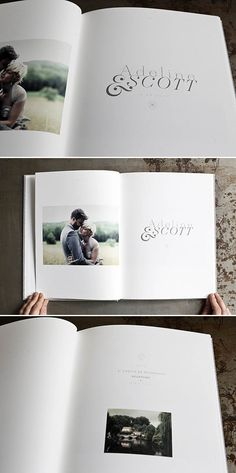 Beautiful Wedding Photography Books by We Not Me Collective... would be nice to include lyrics of songs or parts of our ceremony verbiage.