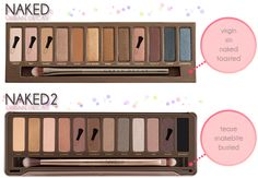 Urban Decay Naked Palette and Naked2 #tutorial #makeup #beauty