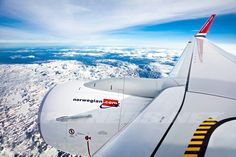 View from the top B737-800 Norwegian.com