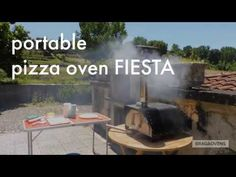 The FIESTA portable pizza oven is the easiest in the market. It's a wood-burning pizza oven. You only need to plug the chimney into place, fit the refractory fire brick inside the oven and it's ready to be fired up. Portable Pizza Oven, Pizza Oven Outdoor, Perfect Pizza, Wood Fired Oven, Wood Burning, Brick, Bbq, Cooking, Fiestas