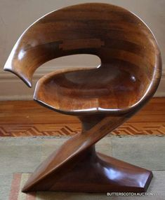 Fluidly Sculptural Chair by Michael Coffey