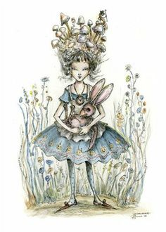 The characters from Alice in Wonderland, the classic novel by Lewis Carroll, retain their status as one of the most popular subjects for artists to illustrate, almost 150 years later. Lewis Carroll, Marie Antoinette, Decoupage, Alice Madness, Nerd, Pintura Country, Were All Mad Here, Adventures In Wonderland, Fantasy Illustration