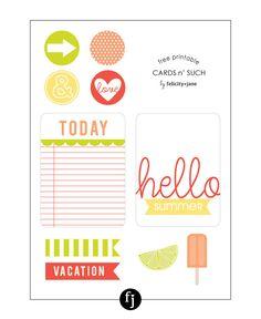 Free Printable Cards  Such | FelicityJane.com