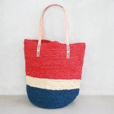 Bolsa de playa bolso bolso de playa playa de paja por MOOSSHOP, $39.95