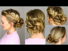 French Braid into Messy Bun -this is so easy and looks amazing. Definitely my favourite.