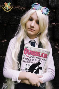 Luna Lovegood~~ Awesome Costume! Although there is something vaguely strange about this picture