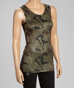 This Camo Seamless Tank by New Balance Intimates is perfect! #zulilyfinds