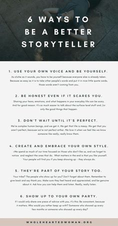 6 Ways To Be A Better Storyteller - Kreatives Schreiben - Stories Creative Writing Tips, Book Writing Tips, Writing Words, Fiction Writing, Writing Resources, Writing Help, Creative Writing Inspiration, Writing Outline, How To Be Creative