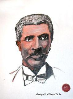George Washington Carver  Greeting card with by ArtByMarilyn, $4.00