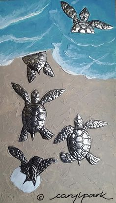 Passion for Pewter: Baby Turtles- The Great Escape