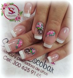 Bella Nails, Nail Sizes, French Nails, Manicure, Nail Art, Beauty, Art Nails, Work Nails, Lace Nails