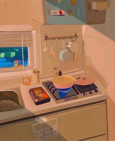 Cute Pastel Wallpaper, Wallpaper Iphone Cute, Cartoon Wallpaper, Cute Wallpapers, Aesthetic Images, Aesthetic Art, Aesthetic Anime, Aesthetic Wallpapers, Ghibli