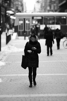 Photoprojekt - Menschen die auf Handys starren