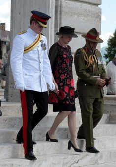 (L) Prince Harry walks with His Excellency the Governor General of NZ, Rt. Hon. Sir Jeremy Mateparae and his wife Lady Janine Mateparae during the NZ commemoration at the Cassino Commonwealth War Cemetery, 18.05.2014 in Monte Cassino, Italy.