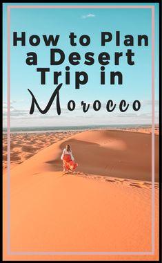 How to Plan a Desert