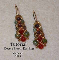 Beading Tutorials and Patterns, PDF Bracelet Pattern Seed Bead Tutorial, Easy Jewelry Making Instructions, Beading Pattern, SuperDuo Beads Seed Bead Bracelets, Seed Bead Earrings, Diy Earrings, Seed Beads, Seed Bead Tutorials, Beading Tutorials, Free Tutorials, Beaded Earrings Patterns, Beaded Jewelry