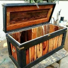 Handcrafted Rustic / Industrial Pine Hope Chest Home Decor/ Furnit...