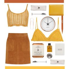 mustard. by randomfashioncollections on Polyvore featuring WearAll, Frame Denim, SHE MADE ME, Dolce&Gabbana, Stila, W&P…