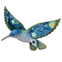 Vincent van Gogh Art-Inspired Hummingbird Wall Sculpture