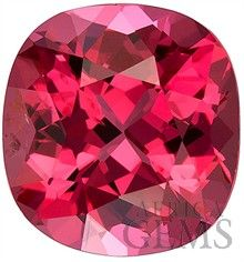Incredible Color & Luster Pinky Red Beautiful Spinel Gemstone from Vietnam- Unheated! Cushion Cut, 2.5 carats