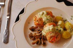 Popietas de salmón con salsa tártara. | Cuchillito y Tenedor