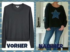 Upcycled pullover star