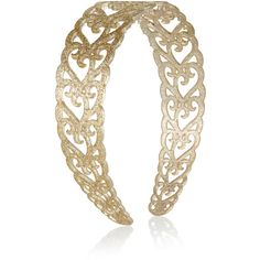 Monsoon Heart Cutwork Glitter Alice Hair Band ($6) ❤ liked on Polyvore featuring accessories, hair accessories, gold hair accessories, glitter hair accessories, glitter headbands, head wrap hair accessories and gold headband