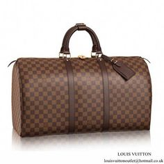 27dd961643ab Louis Vuitton N41427 Keepall 50 Duffel Bag Damier Ebene Canvas   Louisvuittonhandbags