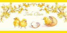 #Osterkarte mit gezeichneten #Küken, inkl. Kuvert.