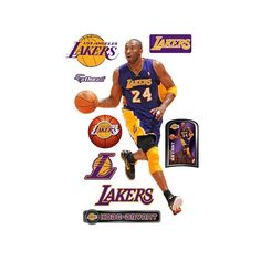 80452698b Fathead 77 in. H x 41 in. W Kobe Bryant - No. 24 Wall Mural-22-20271 - The  Home Depot