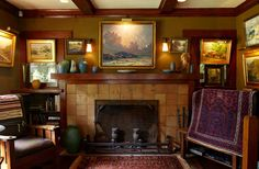 1910 bungalow with Douglas fir woodwork -- photo: Jaimee Itagaki -- Arts & Crafts Homes and the Revival