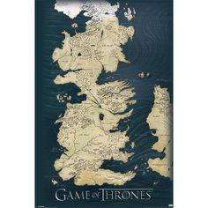 Game of Thrones Map Wall Poster | Home Gifts at The Works