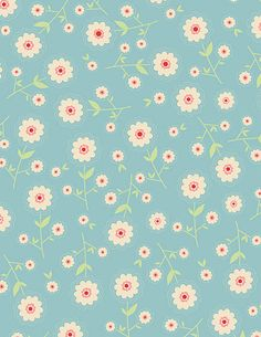delighted floral blue, quilted fish for riley blake