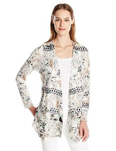 NIC+ZOE Women's Louvre Cardy, Multi, Large- #fashion #Apparel find more at lowpricebooks.co - #fashion